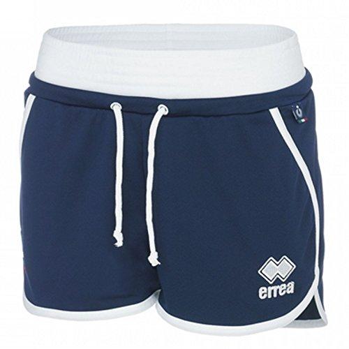 Errea Nacional Italiana para Voleibol Short pantalón Corto Azul Mujer 17/18, Turquesa, XXS