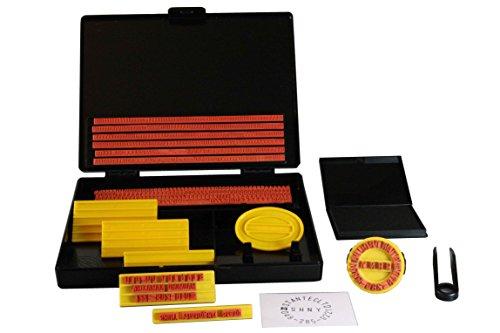 Shiny S-200 - Juego de sellos con tampón (4 y 5 mm de tamaño de caracteres)