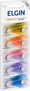 Bateria Alcalina com 10 unidades de 1, 5v tipo LR41, LR736, AG3 Elgin, Elgin, Baterias