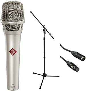 Neumann KMS 105 - Live Vocal Condenser Microphone (Nickel) With XLR Cable and Mic Stand