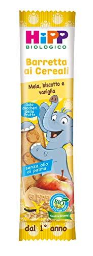 Hipp - Barrette Ai Cereali Bio, Gusto Mela, Biscotto E Vaniglia, 24 Pezzi da 20 G Ciascuno - 480 g
