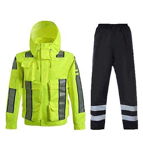 Chalecos reflectantes Traje de impermeable reflectante, ropa reflectante de alta visibilidad, para actividades de la noche al aire libre o traje de trabajador de la construcción Chalecos de seguridad