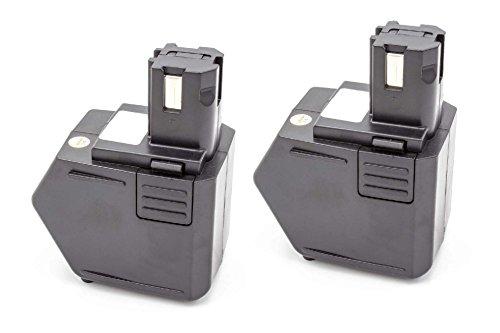 vhbw 2x NiMH batteria 1500mAh (12V) per strumenti attrezzi utensili da lavoro come Hilti SBP10