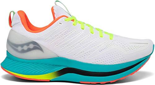 Saucony Men's S20577-10 Endorphin Shift Running Shoe, White Mutant - 10 M...