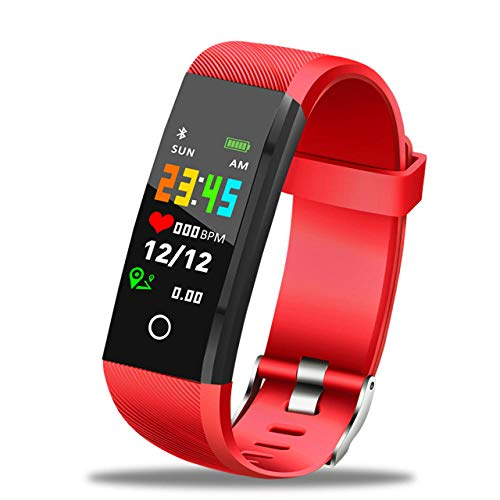 NUNGBE Herren Sport- und Freizeituhren, Herren Digitaluhr, Herren Silikon Smart Armband, wiederaufladbare Smart Armband, Sport Armband-Rot