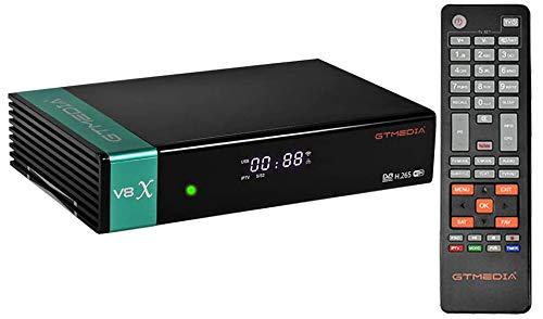 GTMEDIA V8X DVB-S / S2 / S2X Digitaler Satelliten-Receiver mit integriertem WLAN / SCART / 1080P Full HD / FTA Unterstützung CC Cam, Ethernet, Youtube, Steckplatz für CA Karte (V8 NOVA aktualisiert)