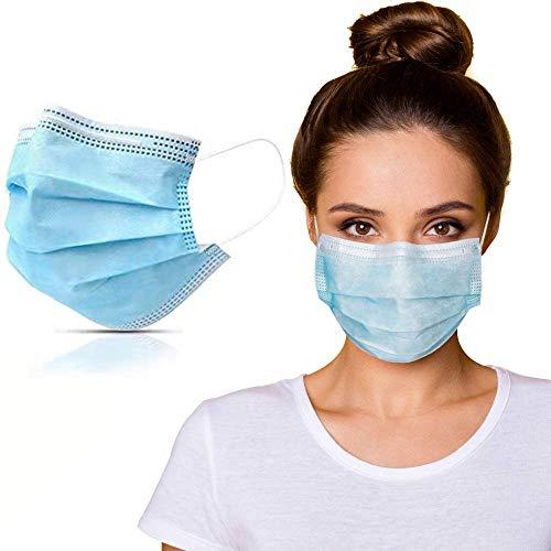 50 Stück Mundschutzmasken 3-lagig Mundschutz Gesichtsmaske Einwegmaske Einweg Maske