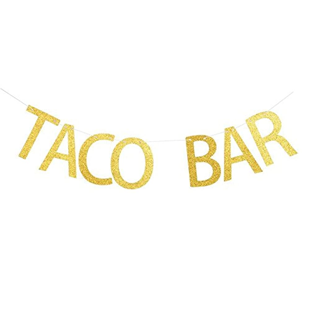 Betalala Large Gold Taco Bar Letters Banner Garland Bunting Sign Party Decoration Photo Props