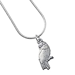 """Hedwig Owl - Pendant Necklace - Official Harry Potter Warner Brothers Licenced Product ! """"Wherever Dumbledore was, though, Harry was sure that Hedwig would be able to find him; Harry's owl had never yet failed to deliver a letter to anyone, even with..."""