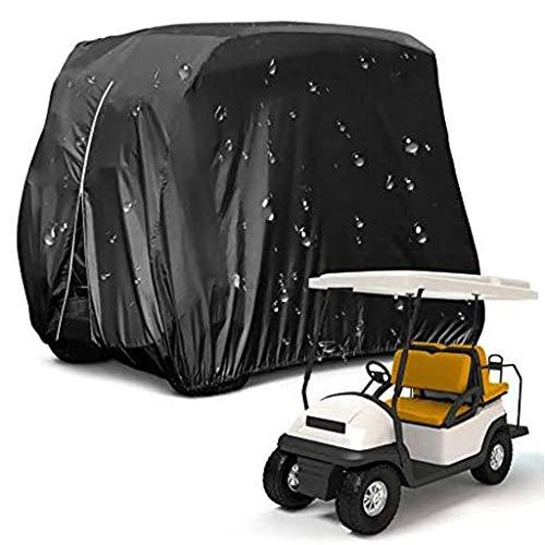 SHUI Cubierta para Buggy Carrito De Golf Impermeable para EZGO, Club Car, Yamaha, Resistente Lluvia Impermeable Resistente Al Sol Protección Prueba Polvo-S: 245 * 122 * 168cm-Negro