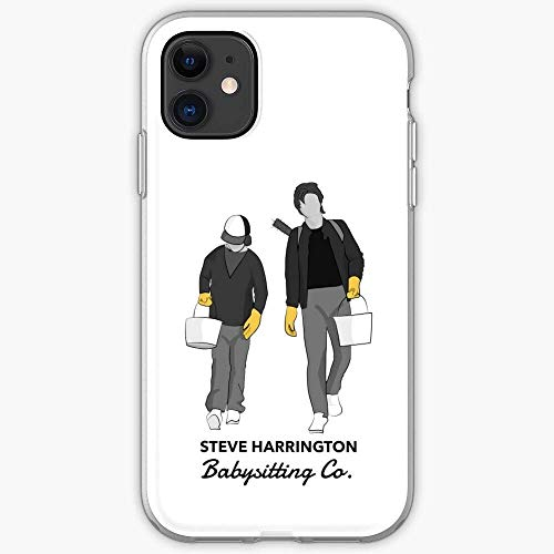 Things Steve Dustin 2 Stranger Harrington and Custodia per telefono Pure Clear Cover iPhone 12/11 Pro Max 12 mini SE X/XS Max XR 8 7 6 6s Plus