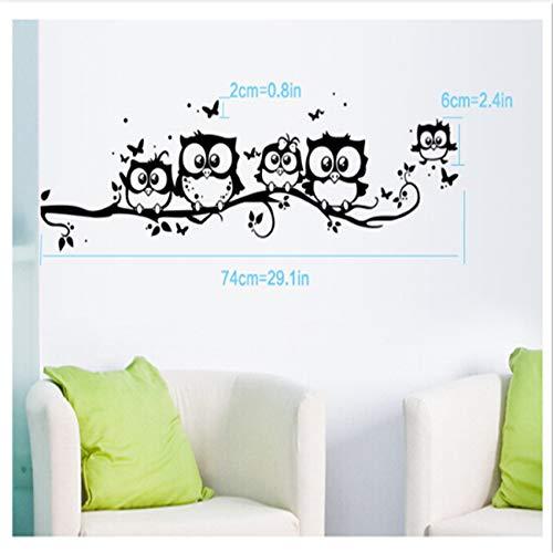 Generic Schwenly Kunst Cartoon Eule Schmetterling Wandaufkleber Dekor Wohnkultur Wohnzimmer Schlafzimmer Abnehmbare Wandaufkleber Wandbilder