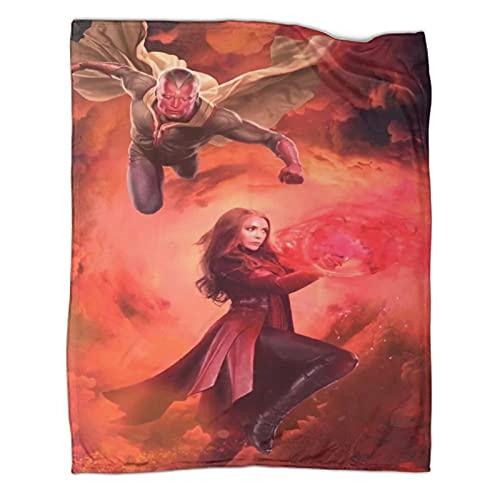 DRAGON VINES Wanda Vision - Manta de superhéroe Elizabeth Paul Bettany (5) fundas para mascotas para sofá o cama, 80 x 100 cm)