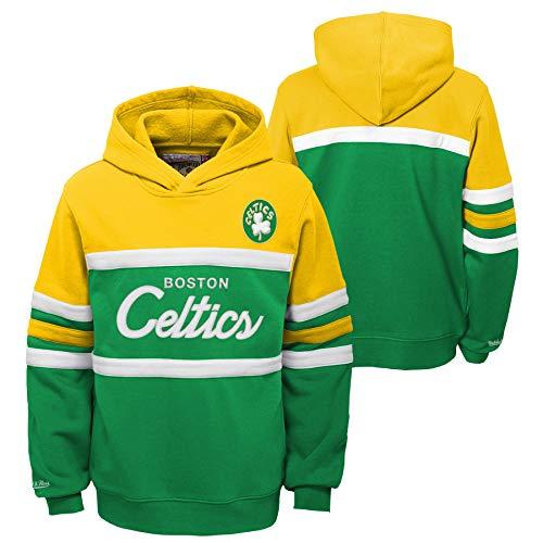 Mitchell & Ness NBA Youth Boys (8-20) Head Coach Hoodie, Boston Celtics X-Large (18-20)