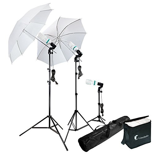 LimoStudio Photography Photo Portrait Studio 660W Day Light Umbrella Continuous Lighting Kit, LMS103
