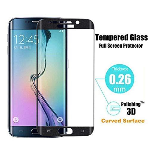 Samsung Galaxy S6 Edge Echt Glas Full Coverage Tempered Glass 3D Design Volledig Scherm Bescherming (Ook de randen) Zwart
