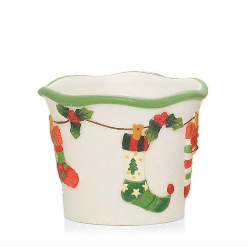 Yankee Candle Christmas tealight, singolo/Multipack Plus wunsch campionatori piccola, 6.7cm/6,6cm, colore: Argento/Rosso festive candela contenitori per caminetti e tavoli decorativo in acciaio/vetro per interni/esterni