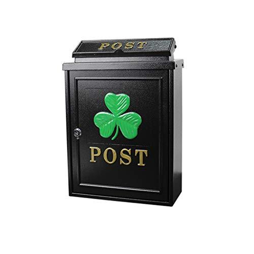 LQZYTY Creative Outdoor Wasserdichter Villa Briefkasten mit Schloss Einbruchsicher Briefkasten Einfacher Europäischer Briefkasten