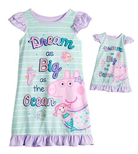Solitärspiele Kleinkind Mädchen Nachthemd Dream Big mit passender Puppe Kleid Set (2T)