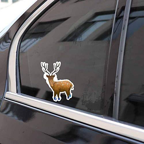 ZQZL 12,3 CM * 15 CM decoración de Ciervo Dorado PVC Pegatina de Coche Accesorios de calcomanía de Animales