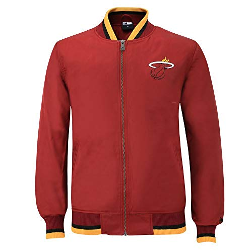 New Era NBA MIAMI HEAT Team Apparel Varsity Jacket, Größe:XXL