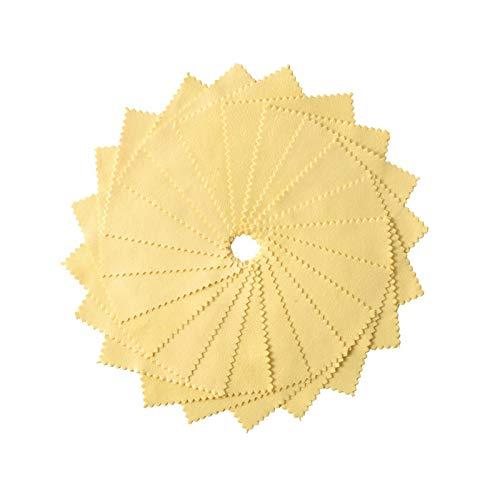 Sunnyushine Paño de pulido de terciopelo de doble cara de joyería de tela de oro pulido de mantenimiento de joyas de tela de plata de piel de becerro de plata paño de pulido paño de plata 10 paquetes