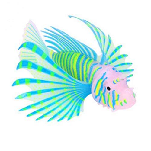 Zonster Neue populäre Blau Glow In Dark Artificial Aquarium Pet Rotfeuerfisch Ornament Aquarium Quallen-Dekor
