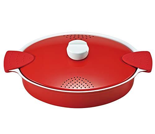 ベストコ(Bestco) パスタ鍋 レッド 2.9L イタリアーノ 湯切り IH対応 ND-8179