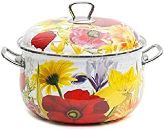 pioneer woman floral dutch oven