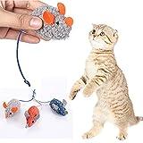 Ysislybin Juguete de menta para gato, 18 piezas, ratón con hierba gatera, lindo juguete interactivo para gatos