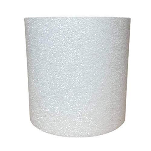 Lealoo Grand Cylindre en polystyrène diam. 40 x Haut. 40 cm, Colonne en Styropor Blanc pour présentoir, de densité Pro, 28 kg/ m3
