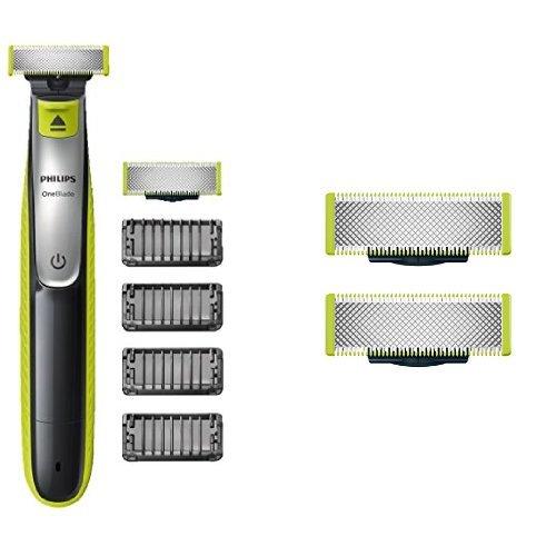 Philips OneBlade QP2530/30, Trimmen, Stylen, Rasieren / 4 Trimmeraufsätze, 3 Ersatzklingen