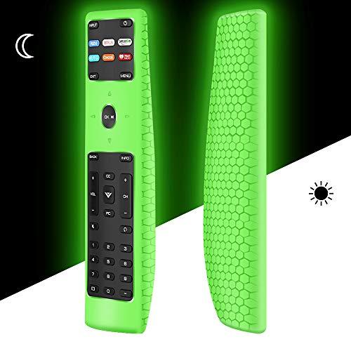 Silicone Protective Case Covers for New xrt136 vizio Smart tv Remote Control,Remote Case Skin Holder for XRT136 Vizio LCD LED TV Remote,Shockproof Remote Bumper Back Cover-Night Glowgreen in The Dark