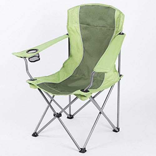 ZA comfortabele armleuningstoel, opklapbare kruk in de openlucht, draagbaar, visstoel, stoel, ligstoel, strandstoel, visstoel, roestvrijstalen houder, waterdicht Oxford-weefsel