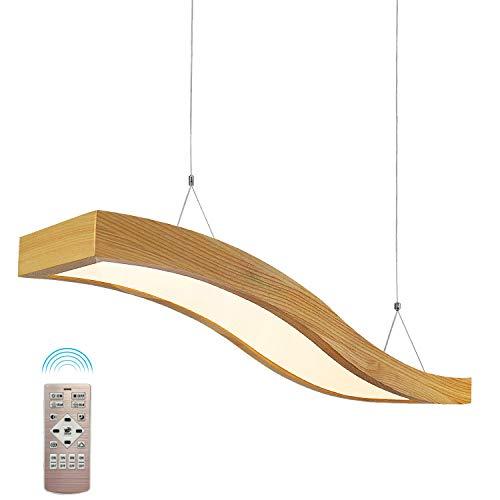 lampadario soggiorno in legno EYLM Lampadario a sospensione in Legno a LED 23 W