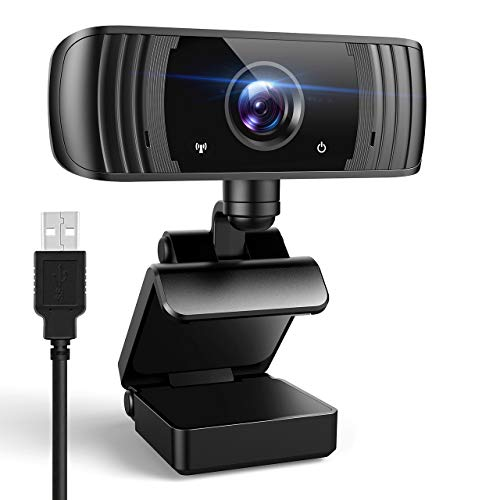ansinna Webcam per PC, 2K Webcam Ultra HD con Microfono Stereofonia, USB 2.0 Videocamera Compatibile con Windows, Mac y Android per Videochiamate, Studi, Conferenza, Registrazione (Nero)