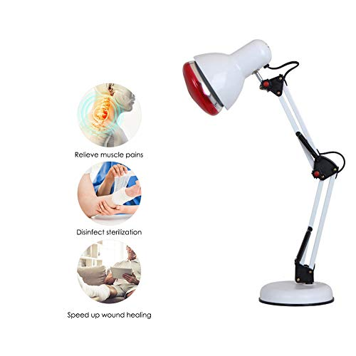 Purchase DXFK.AM 100W Near Infrared Heat Lamp Red Light Therapy for Body Muscle Joint Pain Relief Im...