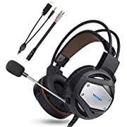 Gaming Headset for PS4 Xbox One TeckNet 3.5mm Stereo Over-Ear Gaming Headphone Headband With Noise Cancelling Mic & Volume Control For PC, Xbox One, PS4, Mac, Laptop, Mobile Phones