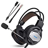 TECKNET Auriculares Gaming PS4 Xbox One, 3.5mm Stereo Cascos Gaming...