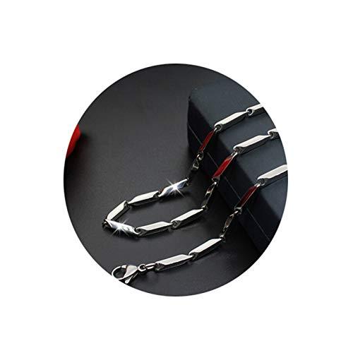 Bishilin Edelstahl Halsketten Herren ohne Anhänger Stangenkette 1.5 MM Kette Silber Freundschaftskette 45 cm