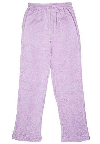 North 15 - Girls Super Cozy Fleece Pajama Bottom Lounge Pants-L1425G-Lavender-7