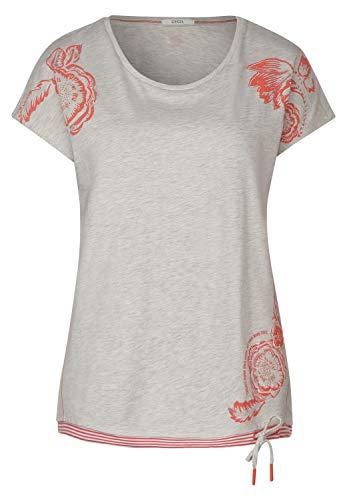 Cecil 314709 Camiseta, Color Blanco Jaspeado (Blanco Jaspeado), XS para Mujer