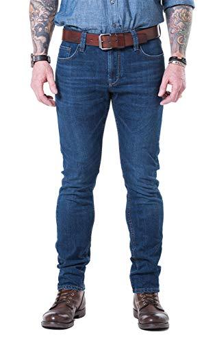 Blaumann Extra schmale Jeans Stretch Kansas, Farbe: Used Dark Wash, Größe: 29/32