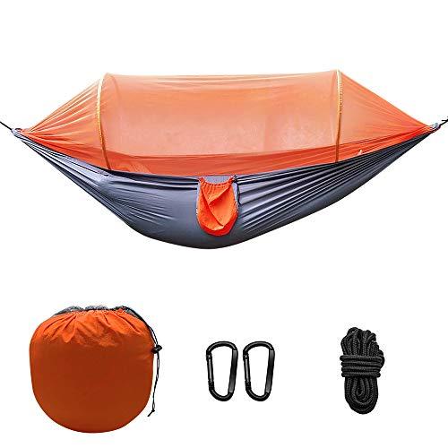 Beilan kampeerhangmat met klamboe, 2 persoons ultralicht draagbaar winddicht, anti-muggen, schommel slapend hangmatbed met net voor buiten, wandelen, backpacken, reizen, enz