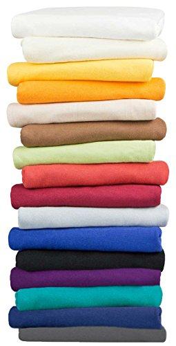 Moon 2er Pack Seitenschläferkissen Bezug Jersey 100% Baumwolle Kissenbezug Stillkissen (2er Pack 40x200, lila)