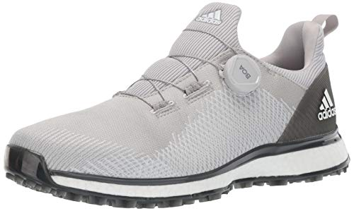 adidas Men's FORGEFIBER BOA Golf Shoe Two/FTWR White/Grey six, 12 M/W US