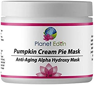 Planet Eden 10% Glycolic AHA Pumpkin Cream Pie Mask for Exfoliation and Sun Damaged Aging Skin - Remove Dead Skin and Refresh Dull Skin