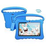 Tablet PC para niños Android 8.1 OS Tabletas de Pantalla Full HD de 7 Pulgadas para niños 1 GB de RAM 16 GB de Almacenamiento Quad-Core 1.3Hz WiFi Tablet con Nuevo Estuche Suave y a Prueba de niños