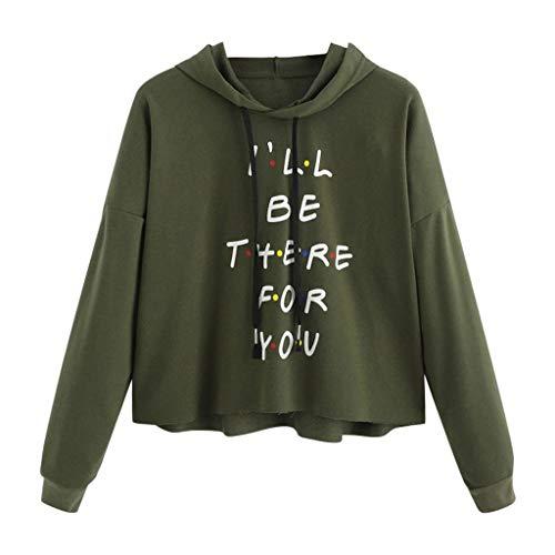 Best Price Hoodies for Women,Women's Crop Hoodie Long Sleeve Letter Print Pullover Sweatshirt Jumper...