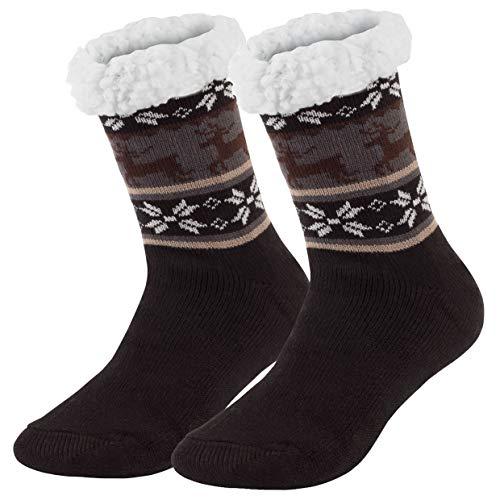 Ferocity Hombre Calcetines térmicos ricos en algodón para resbalón para el invierno Modelo 5 [033]